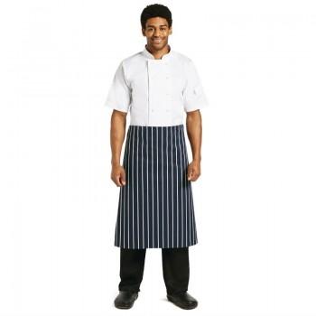 Whites Butchers Waist Apron  Blue and White Stripe