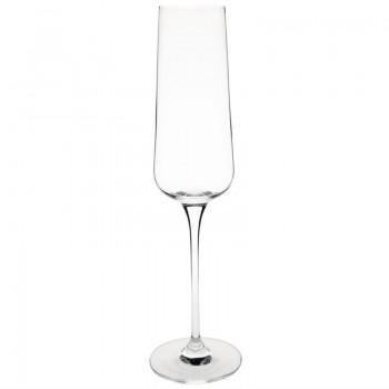 Olympia Claro One Piece Angular Champagne Flute 260ml