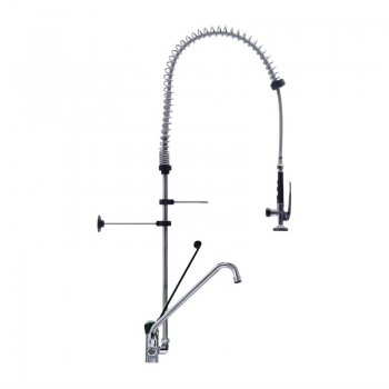 Gastro-M Low Model Monobloc Pre-Rinse Spray With Separate Swing Tap and Hands-Free Operation