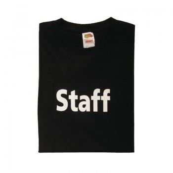 Unisex T-shirt met opdruk Staff zwart M
