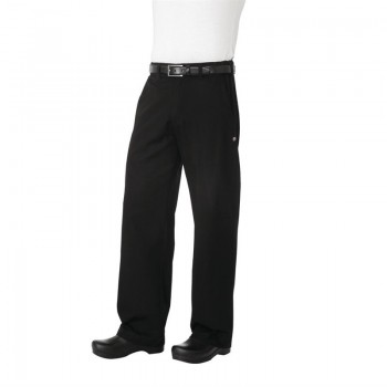 Chef Works Unisex Professional Series Chefs Trousers Black Herringbone L