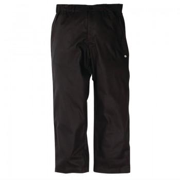 Chef Works Unisex Professional Series Chefs Trousers Black Herringbone M