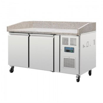 Polar Two Door Pizza Counter with Marble Top