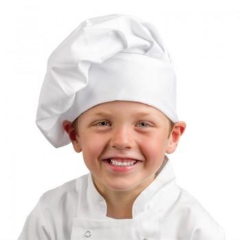 Whites Childrens Unisex Chef Hat White