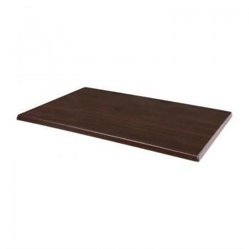 Bolero Pre-drilled Rectangular Table Top Dark Brown