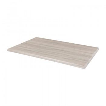 Bolero Pre-drilled Rectangular Table Top Whitewash