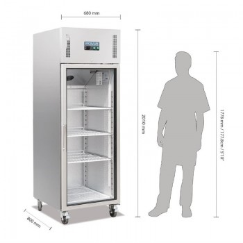 Polar Upright Gastro Display Fridge 600Ltr