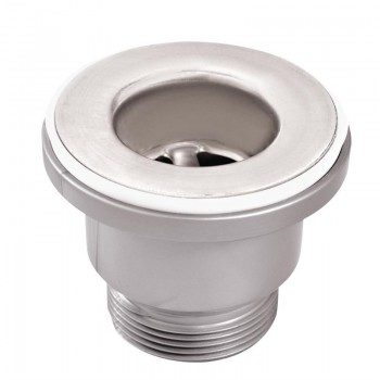 38mm Brass Chromed Drain Plug with Joint and Fixing Nut