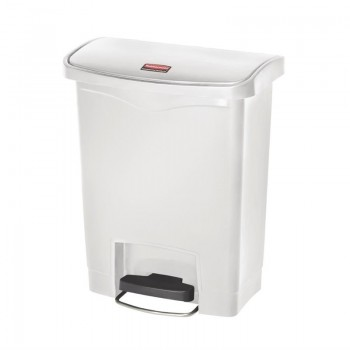 Rubbermaid Slim Jim Step on Bin Front Pedal 30Ltr White