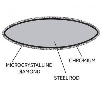 Vogue Diamond Sharpening Steel 30.5cm
