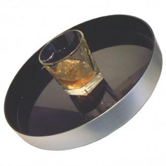 Olympia Aluminium Round Non-Slip Drinks Tray 330mm