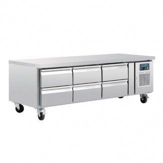 Polar Six Drawer Refrigerated Gatronorm Undercounter Chef Base