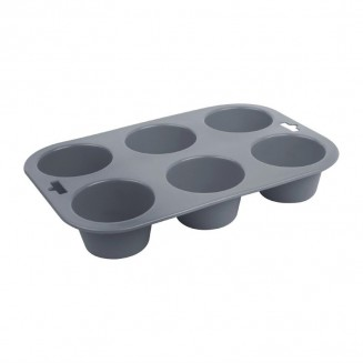 Vogue Flexible Silicone Muffin Pan 6 Cup