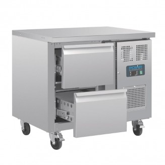 Polar Two Drawer Ventilated Refrigerated Gastronorm Counter