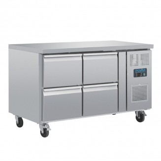 Polar Four Drawer Ventilated Refrigerated Gastronorm Counter