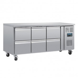 Polar Six Drawer Ventilated Refrigerated Gastronorm Counter