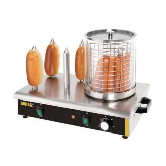 Buffalo Hot dog warmer with 4 spikes