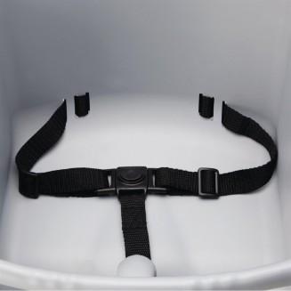 Bolero Grey PP Stackable High Chair
