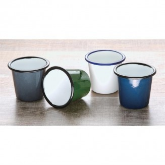 Olympia Enamel Sauce Cup Grey and Black