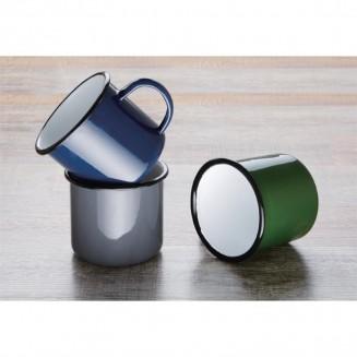 Olympia Enamel Mugs Blue 350ml