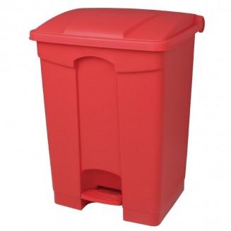 Jantex Kitchen Pedal Bin Red 65Ltr