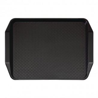 Cambro Polypropylene Handled Fast Food Tray Black 430mm