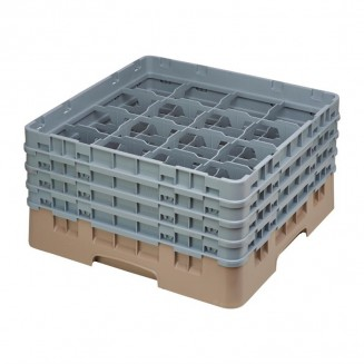 Cambro Camrack Beige 16 Compartments Max Glass Height 215mm