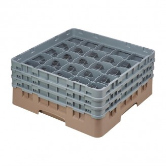 Cambro Camrack Beige 25 Compartments Max Glass Height 174mm