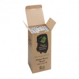 Fiesta Green Biodegradable Paper Straws Black