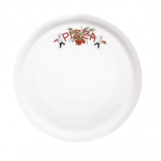 Saturnia Porcelain Pizza Plate 310mm with Pizza Décor