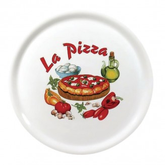 Saturnia Porcelain Pizza Plate 310mm with ''La Pizza'' Décor