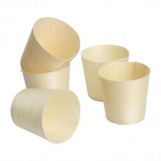 Fiesta Green Biodegradable Poplar Wood Sauce Dipping Pots 38ml / 1.25oz
