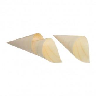 Fiesta Green Biodegradable Poplar Wood Cones 75mm