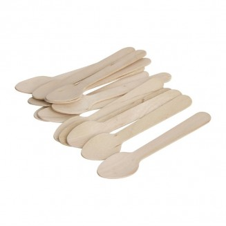 Fiesta Green Biodegradable Wooden Teaspoons