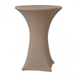 Samba Stretch table cover taupe D1