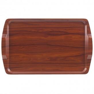 Cambro Walnut Laminate Room Service Tray With Handles 640mm