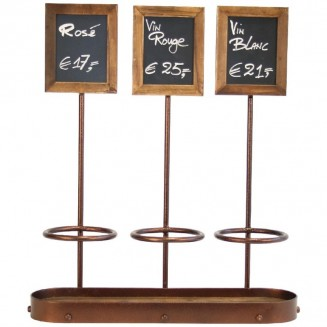 Securit Wine Bottle Display with Blackboards