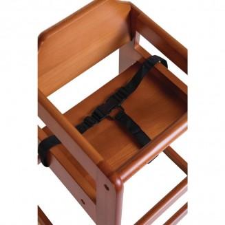 Bolero Wooden Highchair Dark Wood Finish