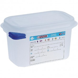Araven Polypropylene 1/9 Gastronorm Food Storage Container 1Ltr (Pack of 4)