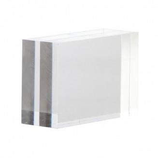 Clear block menu holder