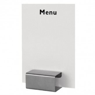Stainless Steel Square Menu Holder