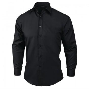 Chef Works Unisex Long Sleeve Dress Shirt Black XL