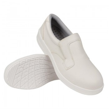 Lites Unisex Safety Slip On White Size 40