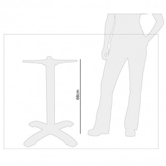 Bolero Aluminium Four Leg Table Base