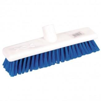 Jantex Hygiene Broom Soft Bristle Blue 12in