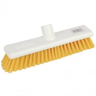 Jantex Hygiene Broom Soft Bristle Yellow 12in