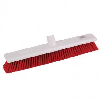 Jantex Hygiene Broom Soft Bristle Red 18in