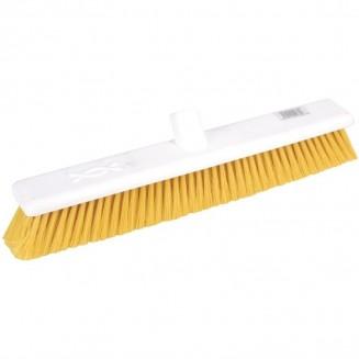 Jantex Hygiene Broom Soft Bristle Yellow 18in