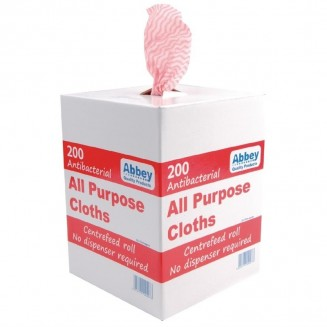 Jantex All-Purpose Antibacterial Cloths Red (200 Pack)