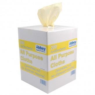 Jantex All-Purpose Antibacterial Cloths Yellow (200 Pack)